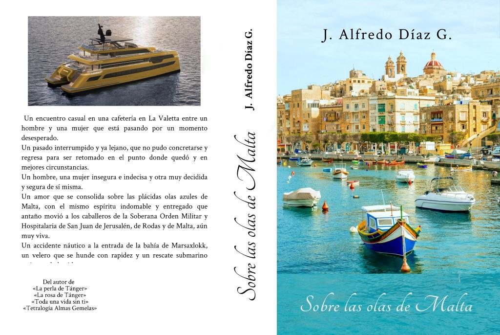 Portada novela Sobre las olas de Malta