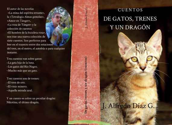 Gato en portada del libro